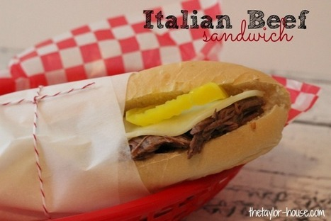Slow Cooker Recipes: Italian Beef Sandwiches - The Taylor House | Made in Italy Flavors - Italian Recipes | Scoop.it