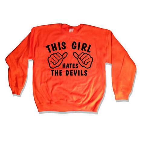 This Girl Hates - The Devils Sweatshirt Orange Go Flyers Sweater 033   Mindfulwear Collection   Scoop.it