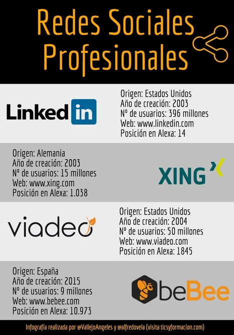 Redes Sociales Profesionales #infografia #infographic #socialmedia | Temas Importantes | Scoop.it