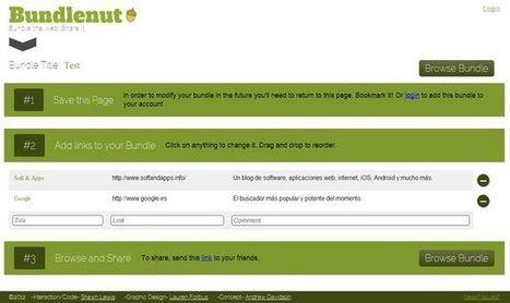 Bundlenut, servicio web gratuito para crear bloques de enlaces y compartirlos | Recull diari | Scoop.it