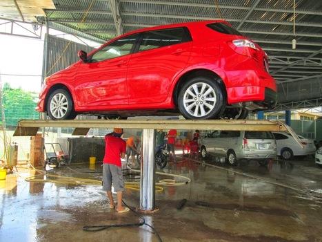 Cầu nâng một trụ rửa xe ô tô của nước nào tốt ? | Camera Itekco | Scoop.it