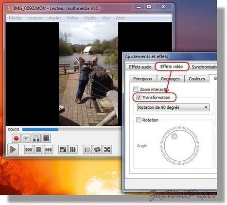 Pivoter facilement une vidéo prise par un téléphone (iPhone ou autre) à 90° avec VLC | Les outils d'HG Sempai | Scoop.it