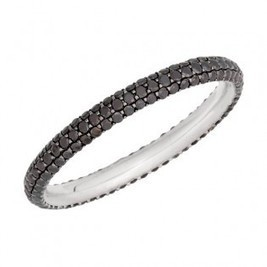 Stackable Black Diamond Eternity Band | Diamond Band | Scoop.it