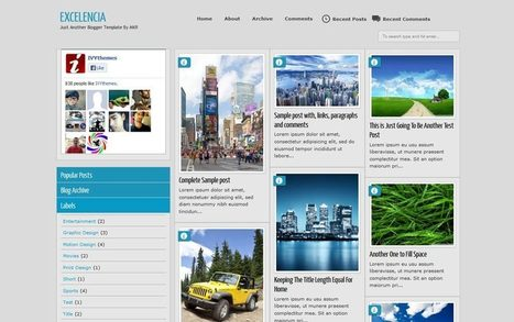 25 Best Free Responsive Blogger Templates for 2013 | Linguagem Virtual | Scoop.it