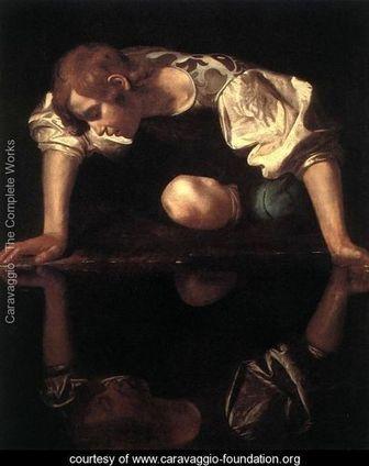 Narcissus, c.1597 99 - Caravaggio - www.caravaggio-foundation.org | Dill | Scoop.it