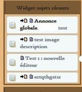 Widget dernier sujets d'un sous-forum isolé | Forumactif | Scoop.it