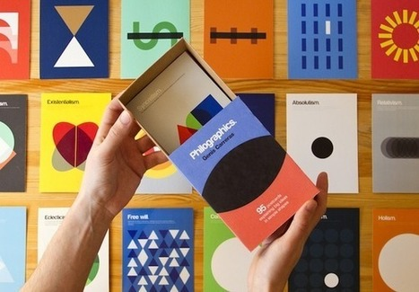 Minimalist Postcards Merge Philosophy with Graphic Design | timms brand design | Scoop.it