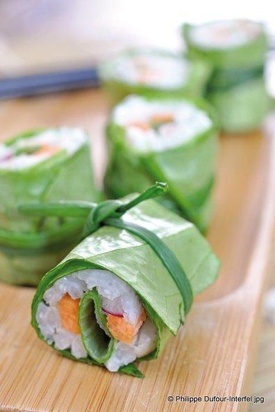 La recette des makis de laitue aux légumes croquants - Lepape-info | SUSHIJU | Scoop.it