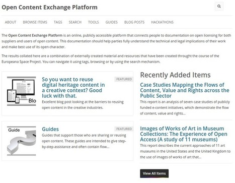 Presenting the Open Content Exchange Platform | OpenGLAM | Peer2Politics | Scoop.it