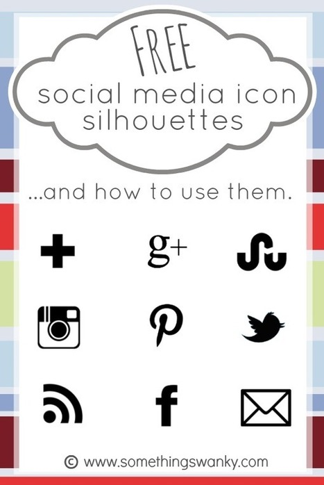 Free Social Media Icon Silhouettes and How to Use Them in Picmonkey.com | Blogging tips | Scoop.it