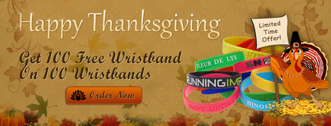 Thanksgiving Offer – Buy cheap custom silicone wristbands and Rubber Bracelets | Thanksgiving Offer – Buy Best Quality of friendship Wristbands | Scoop.it
