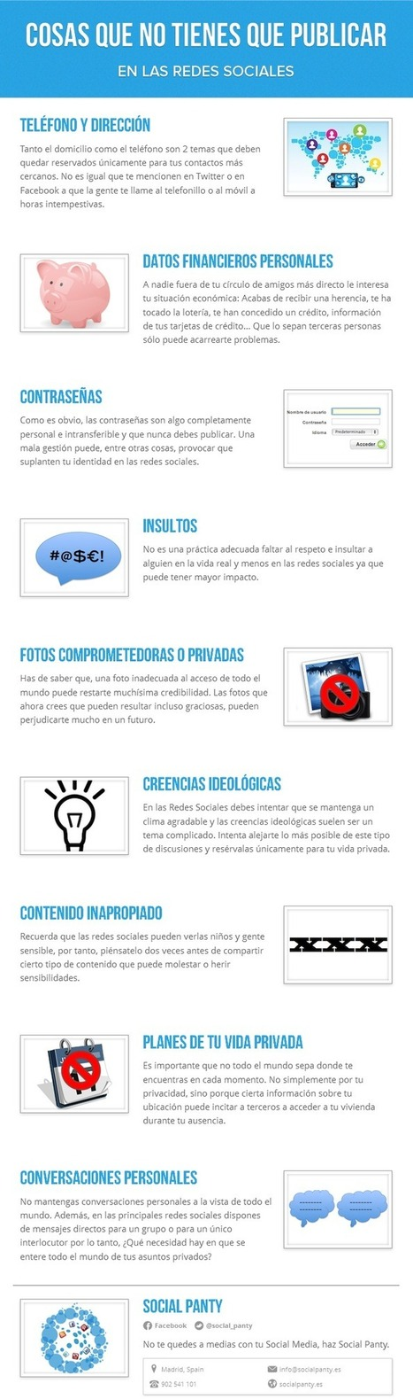Cosas que no debes publicar en Redes Sociales | E-learning del futuro | Scoop.it