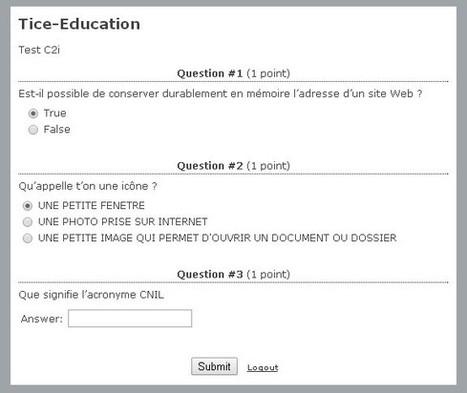 TestMoz : Générez facilement des Quizz en ligne pour vos élèves | Apprendre le français | Scoop.it