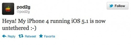 iOS 5.1 Untethered Jailbreak Achieved - Pod2g Makes Twitter Announcement about iOS 5.1 untether jailbreak ~ Geeky Apple - The new iPad 3, iPhone iOS 5.1 Jailbreaking and Unlocking Guides | Jailbreak News, Guides, Tutorials | Scoop.it
