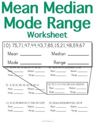 Mean Median Mode Range Worksheet | Math Worksheets and Flash Cards | Scoop.it