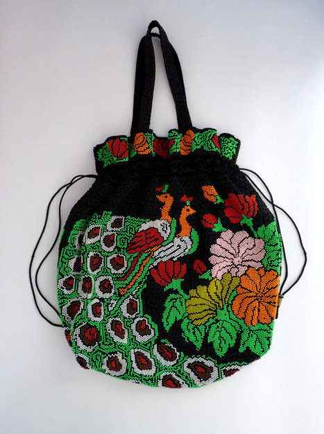 Beaded Drawstring Tote Bag | Beautiful clothes | Scoop.it