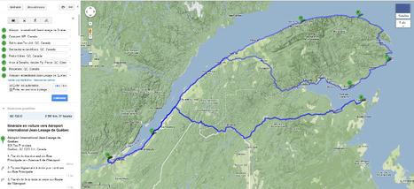 Et voilà la jolie boucle que nous allons parcourir pendant notre petit Québec Tour 2013 :) 2597 km - 37 h de char :-) | Cré Tonnerre | Scoop.it