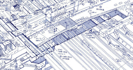 Lose Yourself in Tomoyuki Tanaka's X-Ray Illustrations of Tokyo Train Stations | e.cloud | Scoop.it