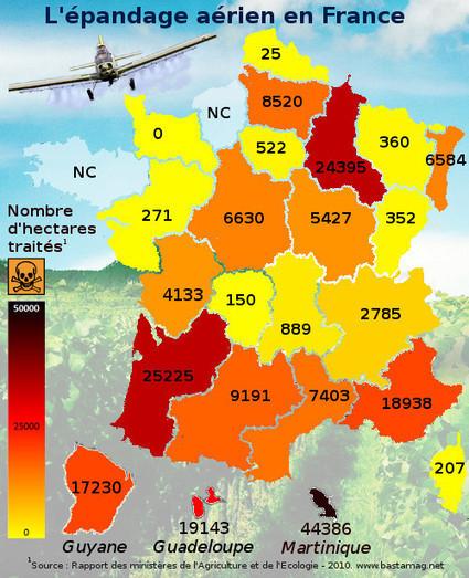 Épandage aérien : ces pesticides venus du ciel - Agriculture - Basta ! | 694028 | Scoop.it