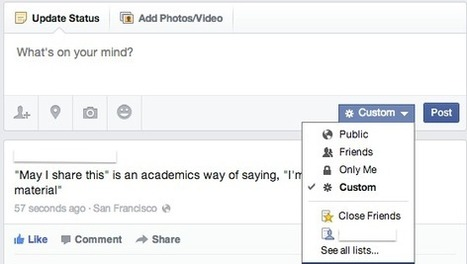 HOW TO : Control Who Sees Your Facebook Posts   Time to Learn   Scoop.it
