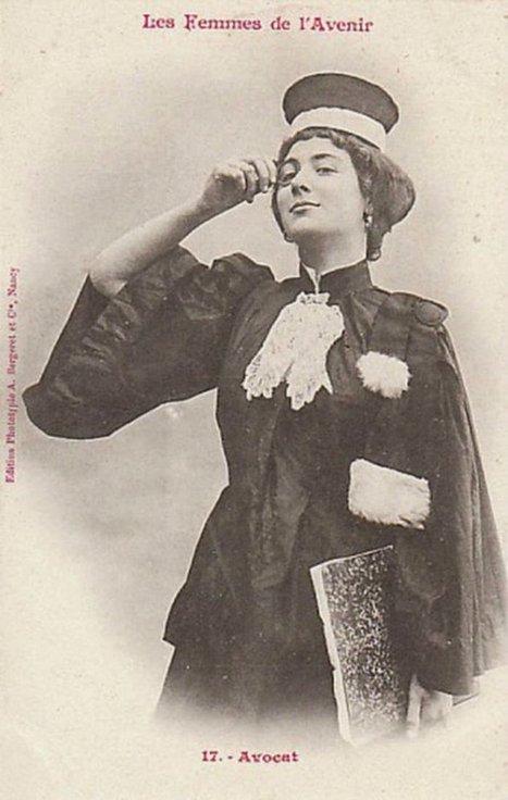 Femmes docteur, journaliste ou avocate : ces cartes postales qui faisaient rire en 1902… | Nos Racines | Scoop.it