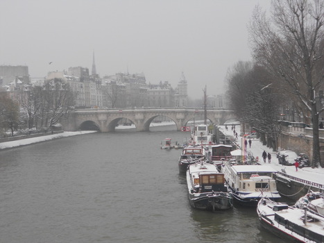 à Paris, il neige aussi... | New York et Paris - Capitales. | Scoop.it