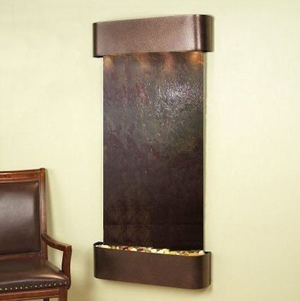 Exalted Fountains | Cascade Springs with Copper Vein and Rajah Featherstone | The Beauty Of Indoor Wall Fountains | Scoop.it