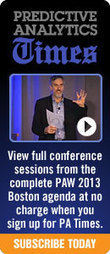 Predictive Analytics World Conference Workshop – Predictive Analytics Applied – An Online Introduction | Predictive Analytics | Scoop.it