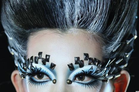 China Fashion Week Fall 2013 Showcases Crazy Eye Makeup Looks (PHOTOS) - Huffington Post | High Fashion Makeup | Scoop.it