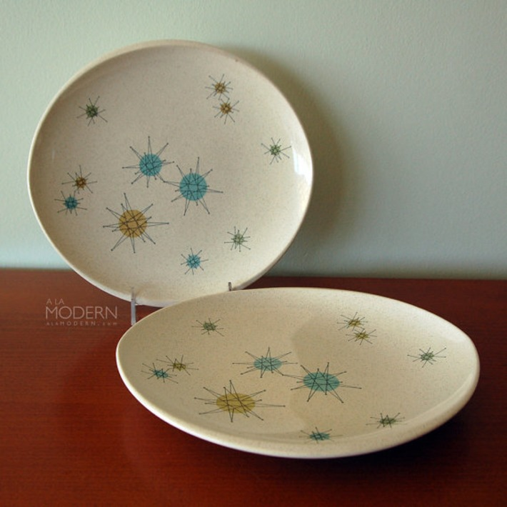 2 Franciscan Starburst Gladding McBean Atomic Midcentury Plates | Antiques & Vintage Collectibles | Scoop.it