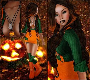 SL Freebie Addiction: Miss Pumpkin Town | Second Life Freebies | Scoop.it