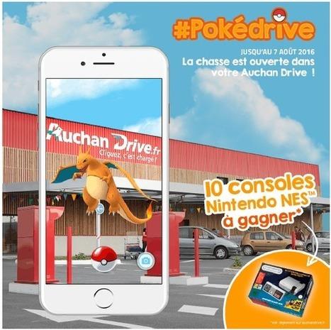 Pokédrive: Auchan s'empare du succès Pokemon Go pour lancer son concours | Freewares | Scoop.it