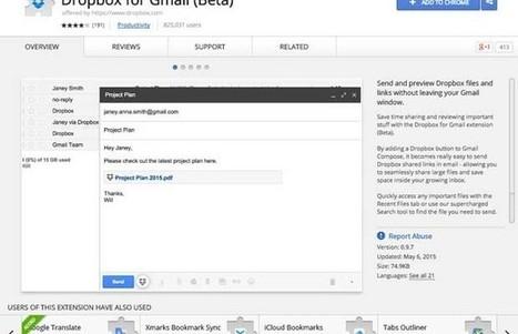 Dropbox pour Gmail : l'installation automatique dans Chrome en cours de test - Linformatique.org | Autour du nuage, sauvegarde mais pas que | Scoop.it