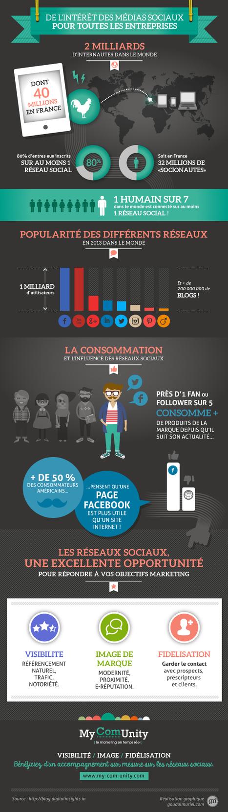 [Infographie] Intérêt des réseaux sociaux pour les TPE PME   Scoop4learning   Scoop.it