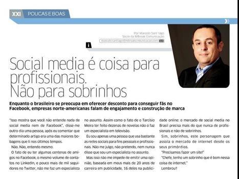 Social Media é coisa para profissionais. Não parasobrinhos. | Marketing Online 2.0 | Scoop.it