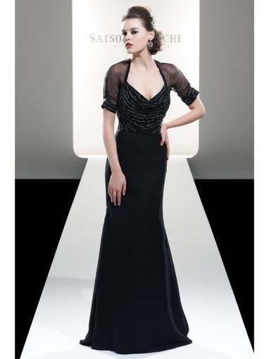 Modern Chiffon and Tulle Column Evening Dress with Beaded SB6039 - Prom Dress Online Shop | prom dress | Scoop.it