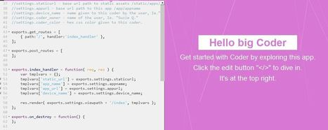 Introducing coder for raspberry Pi | Raspberry Pi | Scoop.it