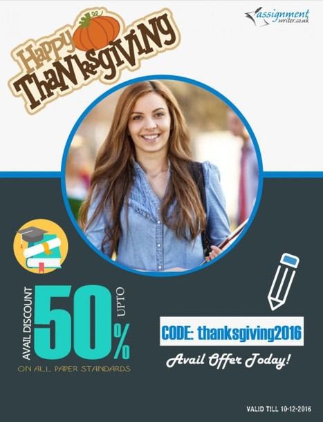 Happy Thanksgiving! Avail Discount upto 50% on all Paper Standards | Visual.ly | Assignment Writer UK | Scoop.it