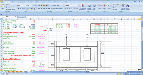 Download the sample drawing of combined footing design | Construction Industry Network | Scoop.it