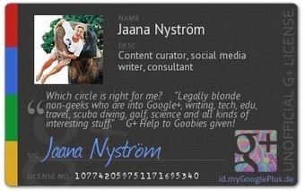 Jaana Nyström - Google+ - Here's my Google+ ID: | GooglePlus Expertise | Scoop.it