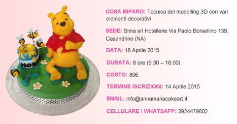 Sconto di 10 Euro sul Corso di Cake Design Winnie the Pooh...   Cake Design e Decorazioni Torte   Scoop.it