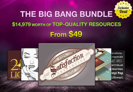 The Big Bang Bundle: $14,979 worth of Top-Quality Resources – From $49 | Design Resources | Scoop.it