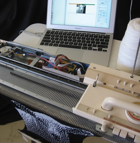 How Punch Cards and Arduino Close the Gap on Hacked Knitting | Make: | Raspberry Pi | Scoop.it