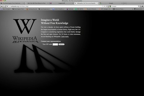 SOPA protests black out top websites - Washington Post | GIS, Spatial modelling & Plants | Scoop.it