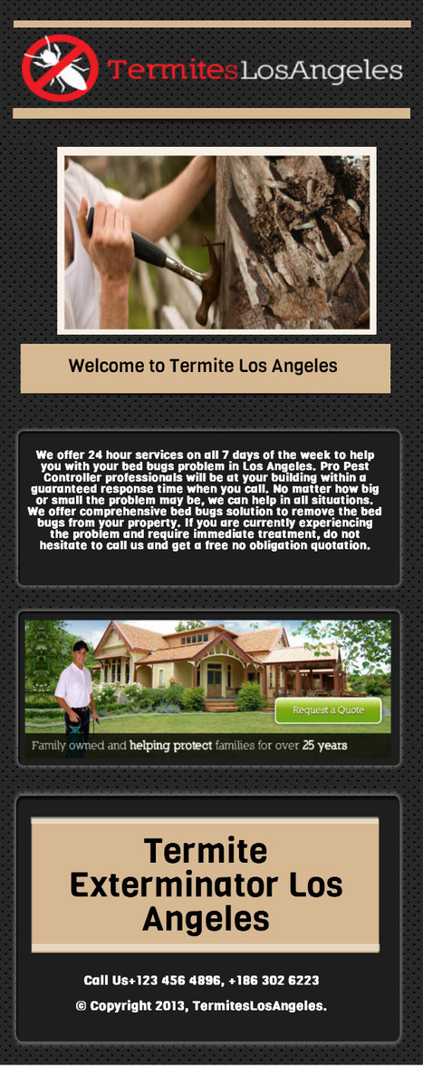 Treatment For Termites Los Angeles | Treatment For Termites Los Angeles | Scoop.it