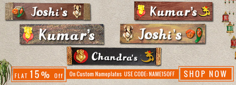 Decorative Wooden Nameplates Shop for Fancy Customized Nameplates for House online. Wooden Custom nameplates online shopping | wooden Kitchen Products and Accessories | Scoop.it