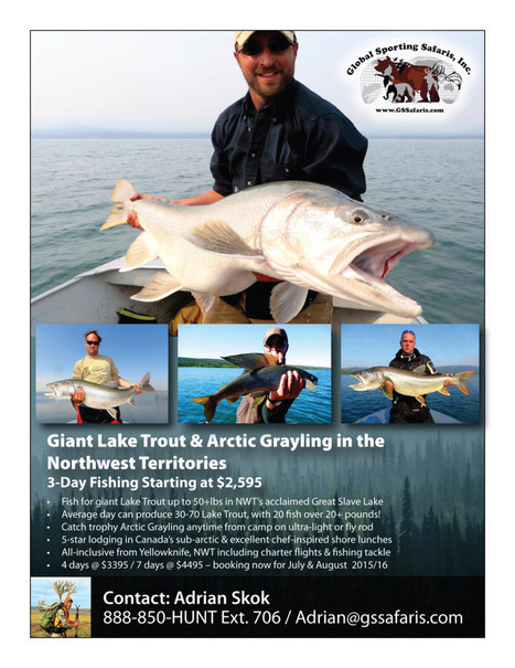 Giant Lake Trout & Arctic Grayling in the Northwest Territories 3-Day Fishing Starting at $2,595 | NWT News | Scoop.it