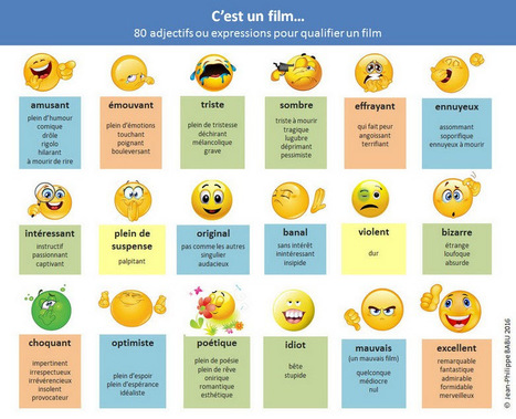 80 adjectifs ou expressions pour qualifier un film | FLE enfants | Scoop.it