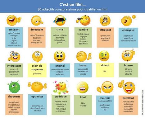 80 adjectifs ou expressions pour qualifier un film | Cours de français | Scoop.it