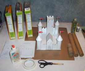 Build a Cardboard and Paper Castle | Castles | Scoop.it